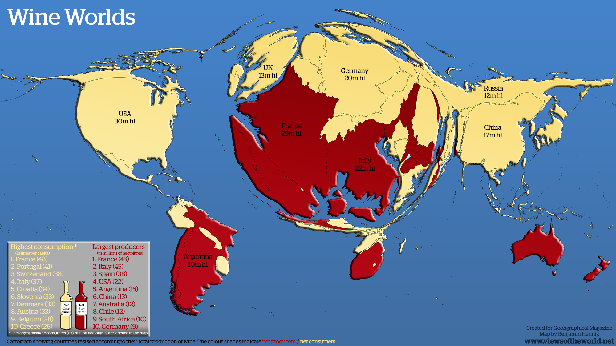 Wine worlds views of the world map of wine production in the world gumiabroncs Choice Image