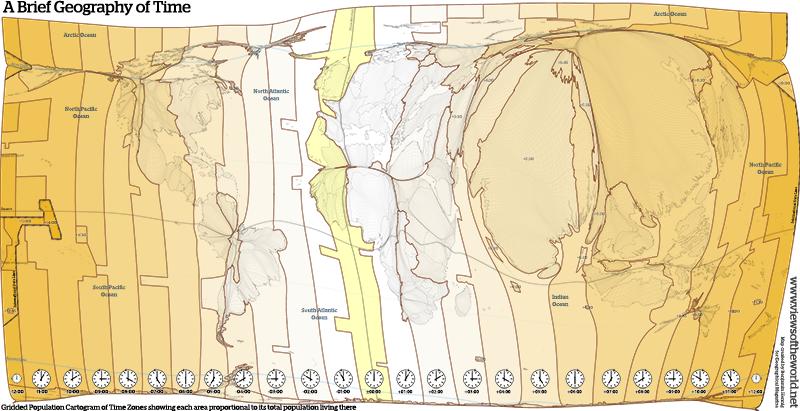 Population Cartogram of Time Zones