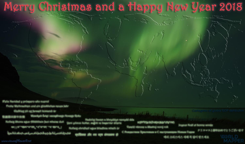 Christmas Cartogram Card 2017