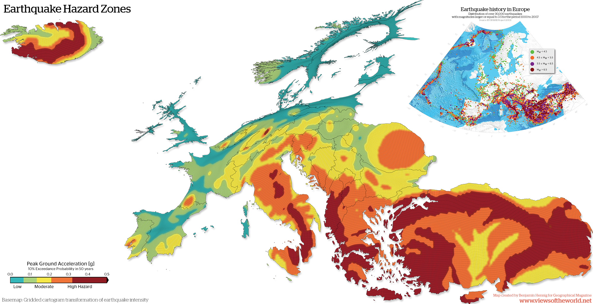 Danger Zones Mapping Europe S Earthquakes Views Of The World